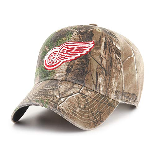 NHL Detroit Red Wings Realtree OTS Challenger Adjustable Hat, Realtree Camo, One Size