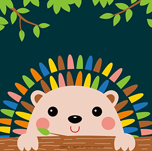 DIY Oil Painting, Paint by Numbers Kits for Kids - Charming Hedgehog 8