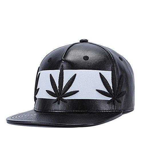 MENGMA Hombre Hip Hop Moda Weed gorra de béisbol del sombrero del Snapback Cap regalos Multicolor