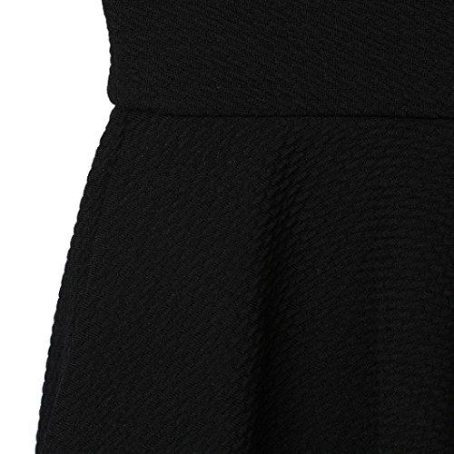 Skater jupe Waist pliss vas FNKDOR Lady Noir Plain Femmes court High jupes shorts courte x6nxzBHw