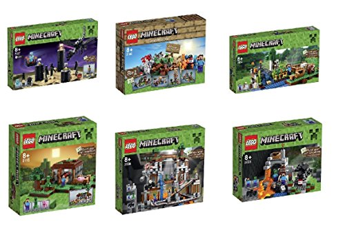 Lego Minecraft Ultimate Collection (Cave 21113 ,Farm 21114, First Night 21115, Crafing Box 21116, Dragon 21117, Mine 21118 )