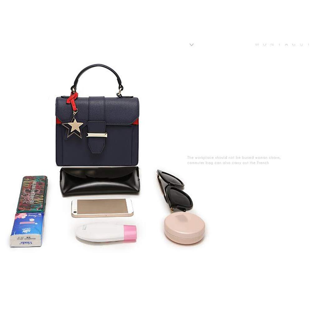 Leather Ladies Shoulder Top-Handle Bag Satchel Fashion Tote Bag Purse Casual Work Black Qzny Womens Handbags Shoulder Bags Color : A, Size : 2016.58cm
