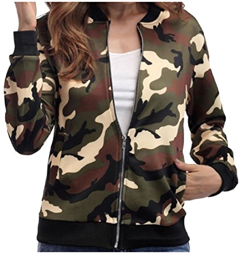 Green Cotton Howme Women Full Jacket Zip Winter Blend Autumn Fashionable OwzwpgHqx