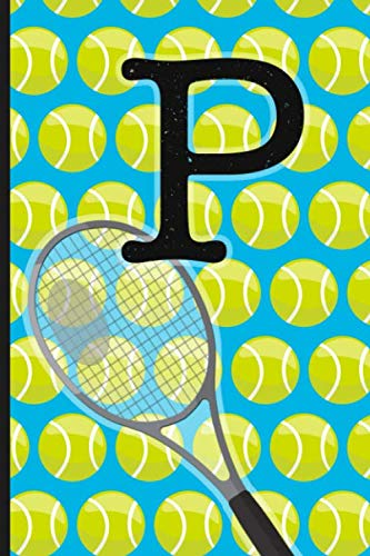 P: Tennis Monogram Initial Notebook for boys Letter P | 6