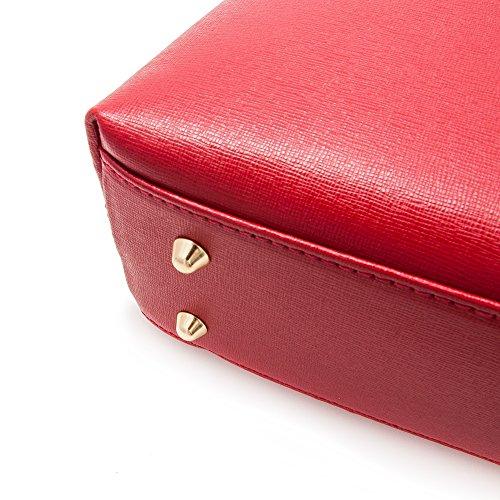 en Rouge une cuir femmes cuir Sac en Zerimar les documents souple grande porté capacité WaO0wPYv