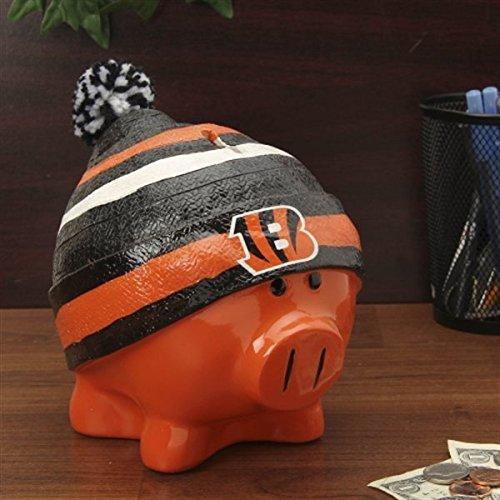 Cincinnati Bengals Piggy Bank   Large With Hat