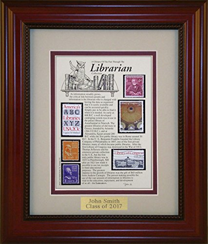 American Stamp Art by Creative Framing Librarian - Unique Framed Collectible (A Great Gift Idea) with Personalized Engraved (Collectible Gift Plate)