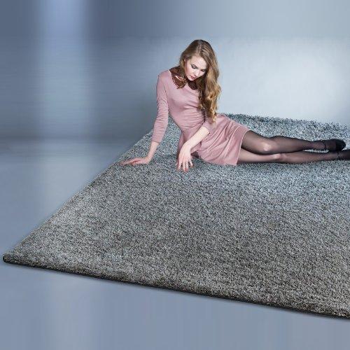 Floori® Shaggy Teppich | Grau/Anthrazit - Größe wählbar - GuT-Siegel/PRODIS