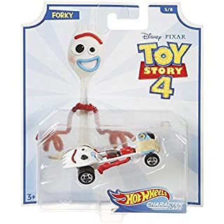 Coches de personajes de Disney Pixar Toy Story 4 Hot Wheels - Forky - GCY57