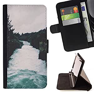 Momo Phone Case / Flip Funda de Cuero Case Cover - Naturaleza Bosque Gris Cielo Árboles - LG G4 Stylus H540
