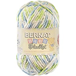 Bernat Baby Blanket Yarn, 10.5 Ounce, Funny Prints, Single Ball