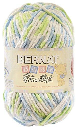 Bernat  Baby Blanket Yarn - (6) Super Bulky Gauge  - 10.5 oz -  Funny Prints  - Single Ball  Machine Wash & Dry