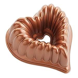Nordic Ware 55548 de aluminio fundido Corazón elegante Bundt Pan [Cocina] (japón importación)