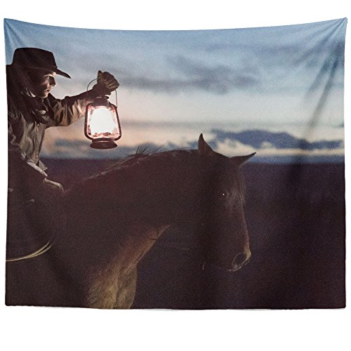 Westlake Art - Wall Hanging Tapestry - Horse Light - Photography Home Decor Living Room - 26x36in (Mule Trail Saddle)