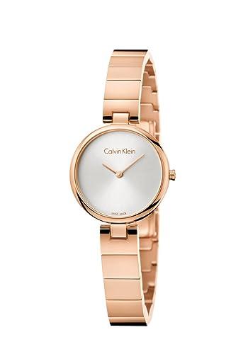 Calvin Klein Reloj Analogico para Mujer de Cuarzo con Correa en Acero Inoxidable K8G23646: Amazon.es: Relojes