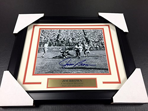 JIM BROWN CLEVELAND BROWNS SYRACUSE SIGNED 8X10 PHOTO AUTOGRAPHED STEINER - Syracuse Outlets