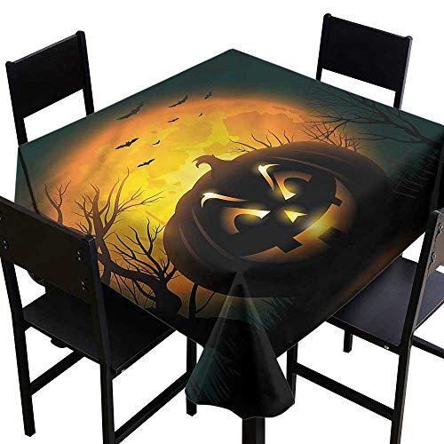 Halloween Anti-Fading Tablecloths Fierce Evil Character It's Good to be Home Gorgeous High End Quality 36 x 36 Inch ()