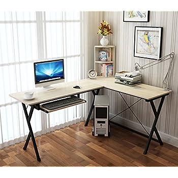 Amazon Com Hlc L Shaped Computer Desk Corner Table