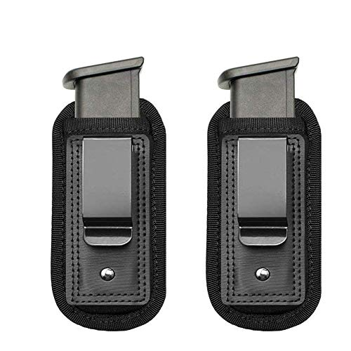 wipboten Pistol Handgun Magazine Holster Pouch IWB Inside Waistband for Concealed Carry Universal Single Double Stack Mags for Glock17 26 19 21 Sig Sauer S&W Springfield XD Ruger 9mm/.45