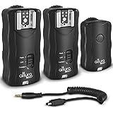 (2 Trigger Pack) Altura Photo Wireless Flash Trigger with Remote Shutter for Nikon D7100 D7000 D5300 D5200 D5100 D5000 D3300 D3200 D3100 DSLR Cameras + Magicfiber Lens Cleaning Cloth