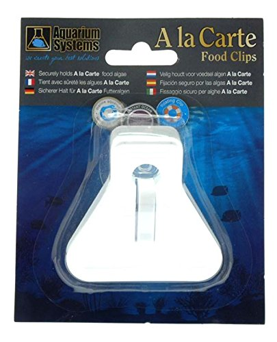 Fish food feeder clip Securely holds A la Carte food (Feeder Clip)