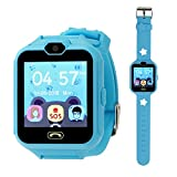 PHRtoy Smart Phone Watch kids, Unlocked Cell Phone Watch [Anti-lost SOS] [Camera] [Alarm] [Games] Smart Watch Nice Birthday Kids, Boys Girls (blue)