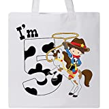 Inktastic - I'm Five-cowboy riding horse birthday Tote Bag White 2c9cd