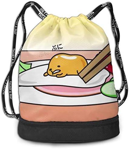 ぐでたま 7 大容量 クファッション印刷 バックパッ男女兼用 バックパック小新鮮 旅行スポーツバッグ 防水スイミングバック学生バッグ 多機能 収納バックパッ