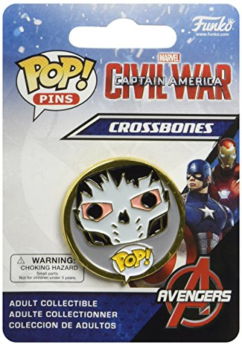 Funko - Pins Marvel - Civil War - Crossbones Pop 3cm - 0849803085