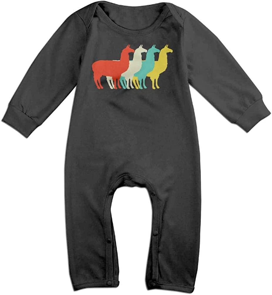 Vintage Llama Cool 6-24 Months Baby Boys Girls Casual T-Shirts