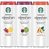 Starbucks Refreshers, 3 Flavor Variety Pack with Coconut Water, 12 Ounce Cans, 9 Pack (Packaging May Vary)