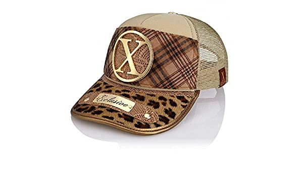 Xtress Exclusive gorra de diseño en tonos marrones para hombre y ...