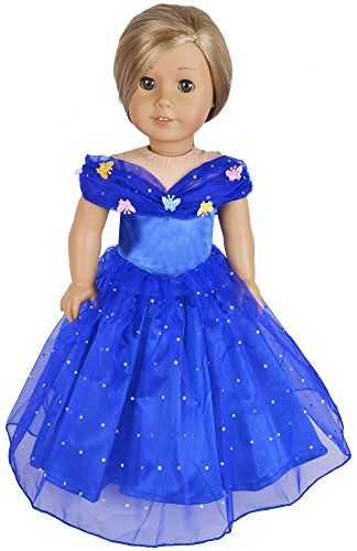 [Ebuddy Halloween Costume Set Inspired By Cinderella Doll Clothes Dress Fits 18 Inch Doll] (Doll Halloween Outfit)
