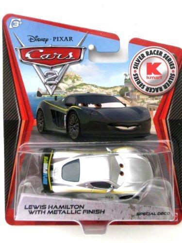 Disney PIXAR Cars 2 Lewis Hamilton With Metallic Finish Silver Racer Series KMart Silver Racer Series