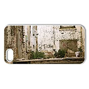 Slum - Case Cover for iPhone 5 and 5S (Watercolor style, White)
