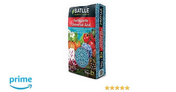 Abonos - Fertilizante Universal Azul Saco 15kg - Batlle: Amazon.es: Jardín