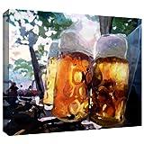 beer artwork - ArtWall Martina and Markus Bleichner 'Biergarten' Gallery-Wrapped Canvas Artwork, 32 by 48-Inch