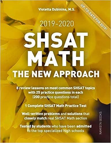 SHSAT Math: The New Approach (Practice Math Tests for SHSAT