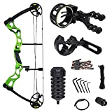 Best Compound Bows - iGlow 40-70 lbs Green Archery Hunting Compound Bow Review