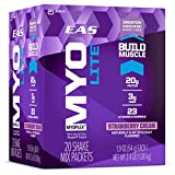 EAS Myoplex Lite Protein Shake Mix Packets, Strawberry Cream, 1.9 oz packets, 20 servings