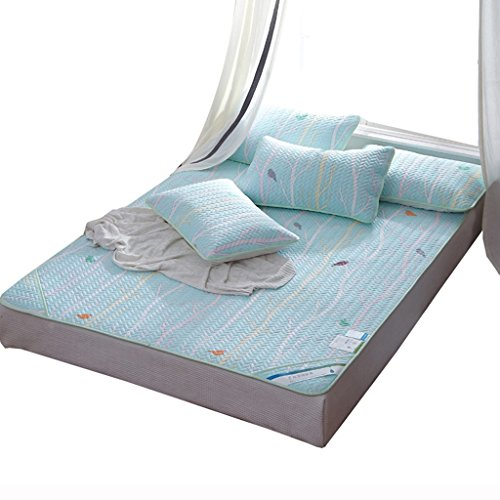 ERRU-Tapis de sommeil d'été Maillot de sommeil d'été Tencel Mats Summer Ice Soie Doublure douce douce ( Couleur : A , taille : 150*200cm )