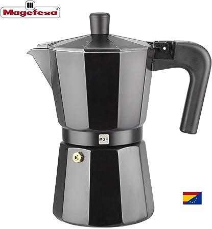 Magefesa 01PACFKEB06 - Cafetera modelo KENIA NOIR en aluminio ...