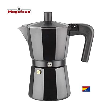 M MAGEFESA - Cafetera Modelo Kenia de Aluminio Grueso (9 Tazas)