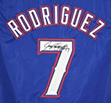 Ivan Pudge Rodriguez Texas Rangers Signed Autographed Blue #7 Custom Jersey PAAS COA