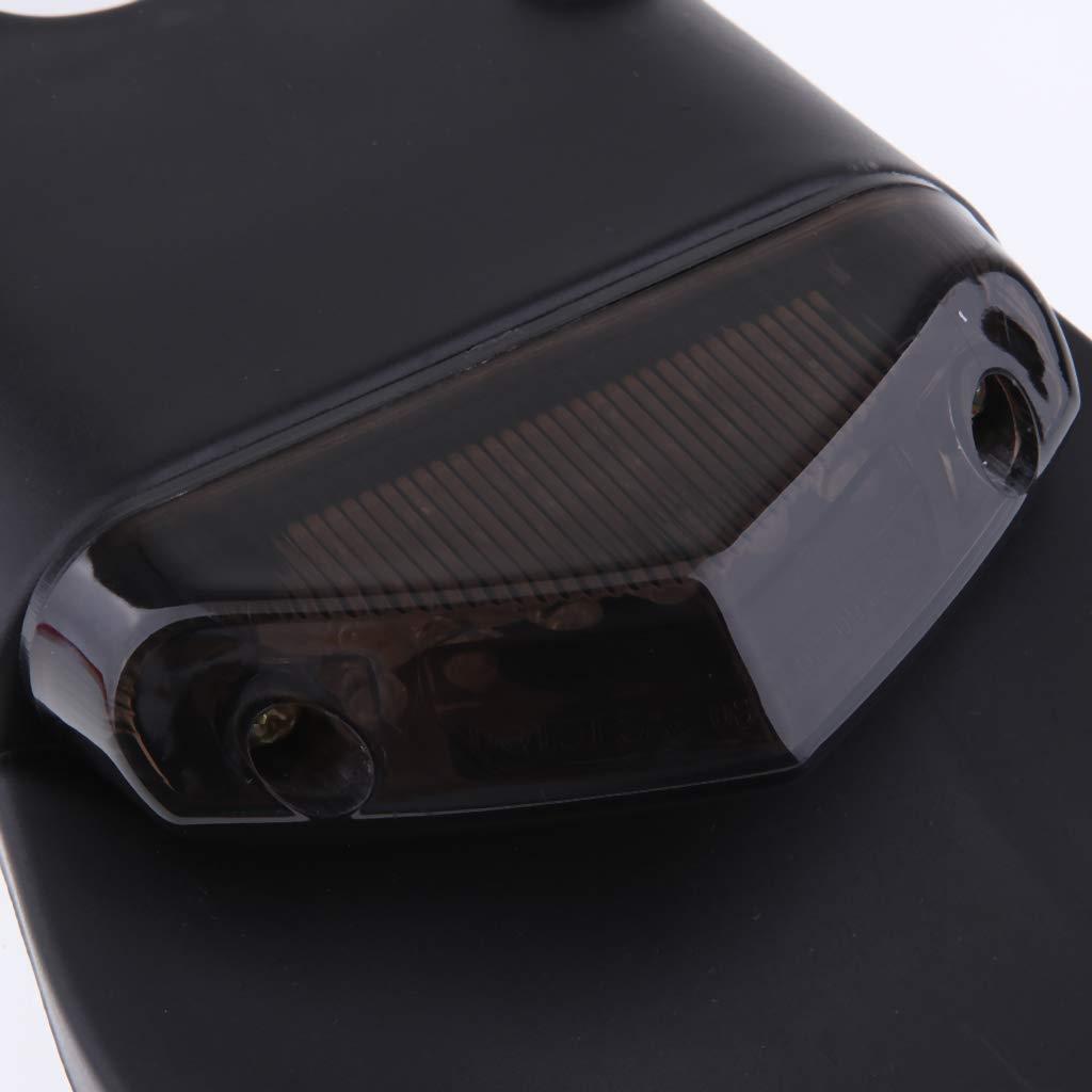Shiwaki Parafango Posteriore per Motocicli Fanale Posteriore a LED per Moto da Enduro