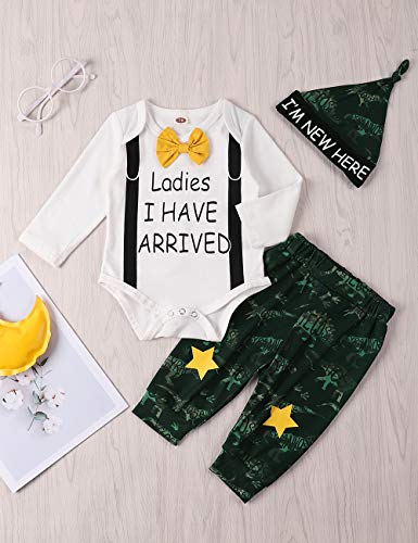 Xuefoo Set di Abbigliamento con Stampa di Testa di Cervo per Neonato Neonato Set di Abbigliamento con Cappuccio per… 2