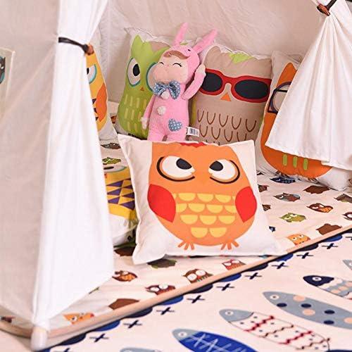 Tienda de campaña para niños Ropa de Lona Linda de algodón Tienda India para niños Chicas Bebé Juego Tienda de campaña para Interior Tienda Exterior portátil