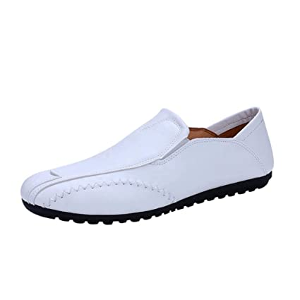WWricotta LuckyGirls Zapatos de Cuero de Uniforme Zapatillas Casual Hombres Negocio Moda Cómodas Calzado Andar Planos