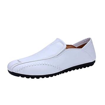 WWricotta LuckyGirls Zapatos de Cuero de Uniforme Zapatillas Casual Hombres Negocio Moda Cómodas Calzado Andar Planos Bambas: Amazon.es: Deportes y aire ...