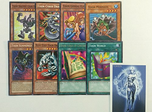YUGIOH Tournament Ready Toon Deck and exclusive Phantasm Gaming Token - Tournament Ready Gear Deck
